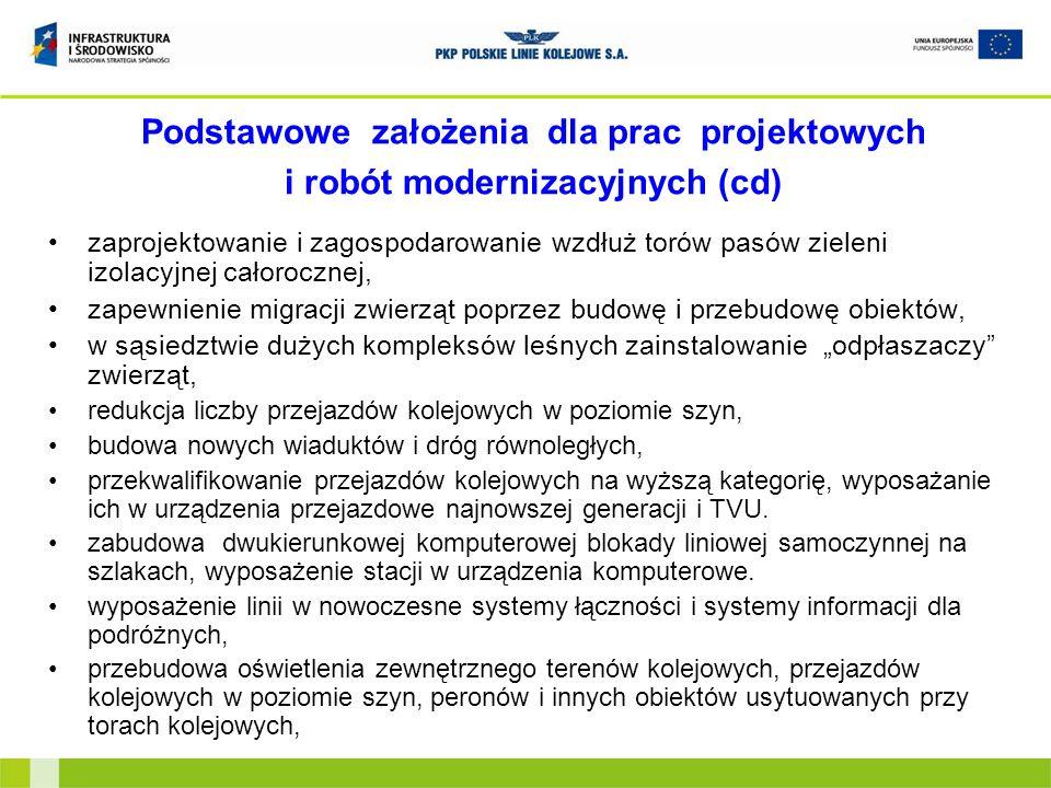 Informacje o projekcie obejmuje odcinek: Sosnowiec Jęzor – Jaworzno Szczakowa – Trzebinia – Krzeszowice – Kraków Mydlniki - Kraków Główny Towarowy o długości 58,237 km; planowany koszt modernizacji – około 1,4 mld zł (netto); sposób realizacji – system projektuj i buduj; planowane zakończenie realizacji robót – czerwiec 2014 r.