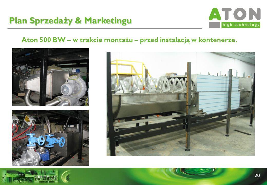 20 Aton 500 BW – w trakcie montażu – przed instalacją w kontenerze. Plan Sprzedaży & Marketingu
