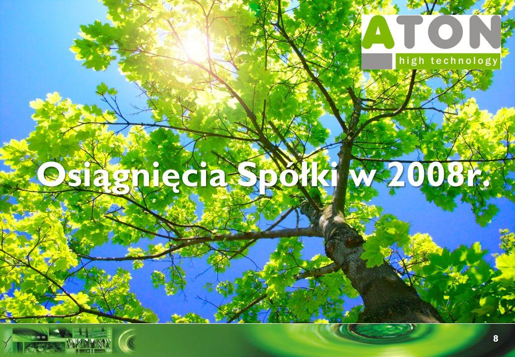 8 Rozdział I Osiągnięcia Spółki w 2008r.
