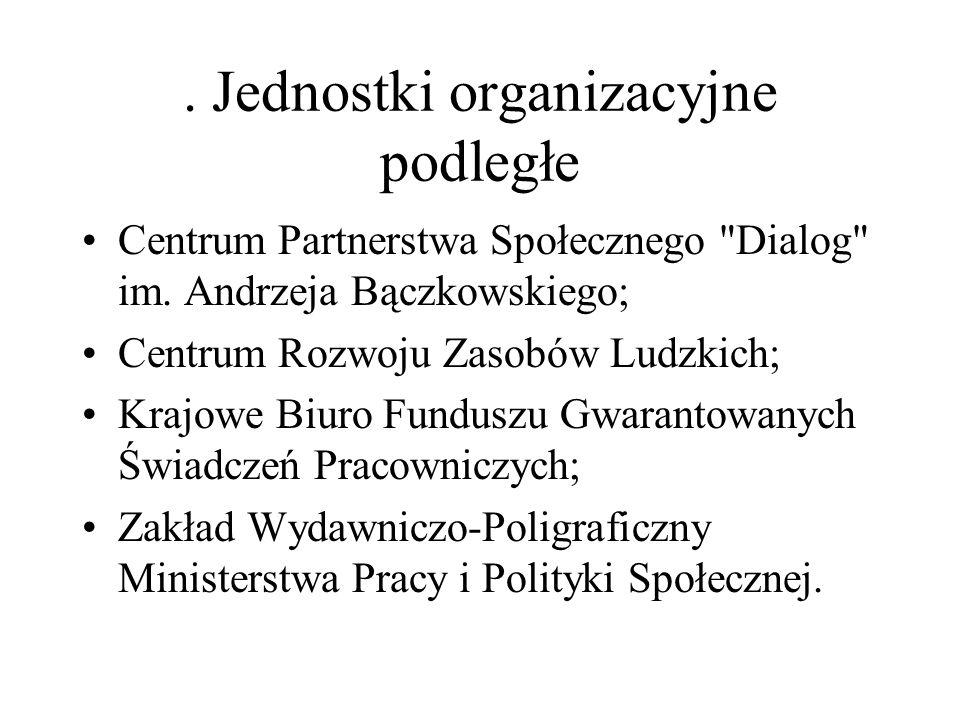 . Jednostki organizacyjne podległe Centrum Partnerstwa Społecznego