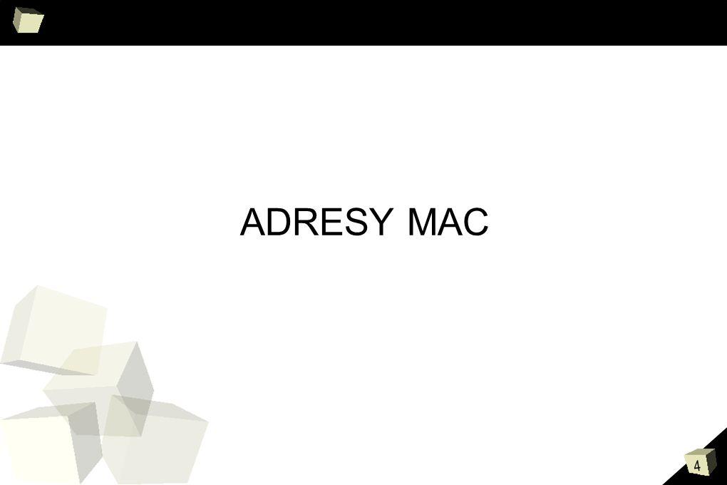 5 MAC Co to jest adres MAC.