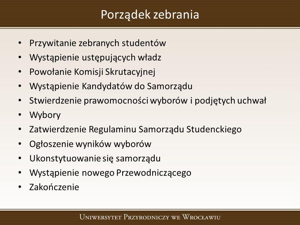 Powołanie Komisji Skrutacyjnej 1. 2. 3.