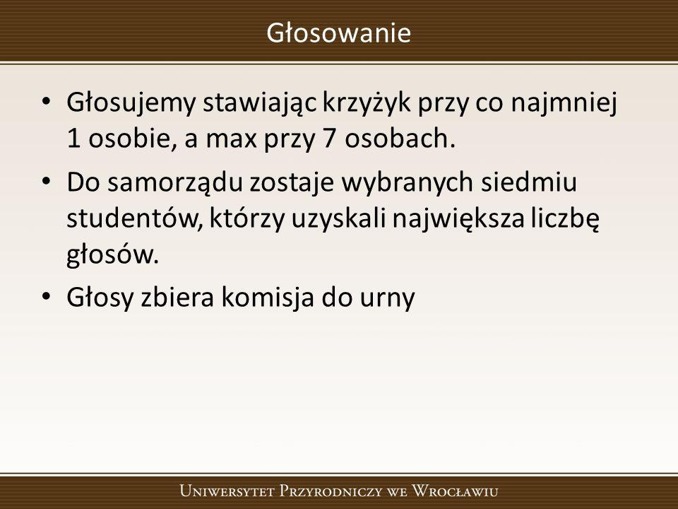 Zatwierdzenie Regulaminu Samorządu Studenckiego Referujący Jakub Jarosz