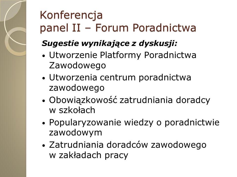 Konferencja Pakt porozumienia na rzecz poradnictwa zawodowego Ideą Paktu jest skupienie rozproszonego instytucjonalnie poradnictwa zawodowego w województwie Zamierzeniem docelowym jest utworzenie Lubuskiego Centrum Metodycznego Doskonalenia Poradnictwa Zawodowego