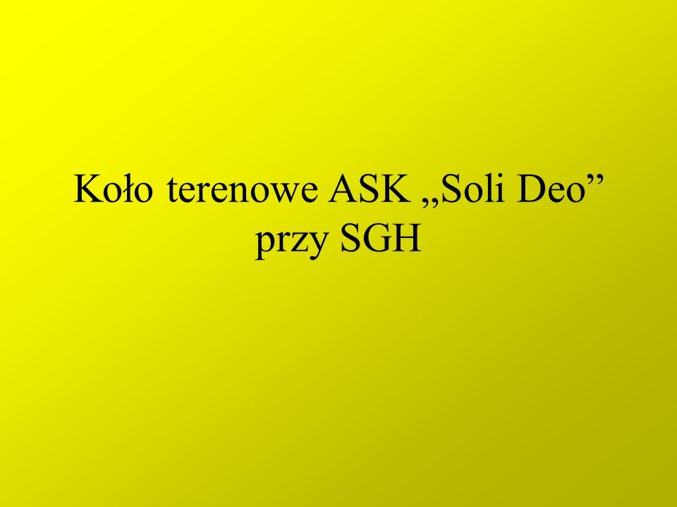 Koło terenowe ASK Soli Deo przy SGH