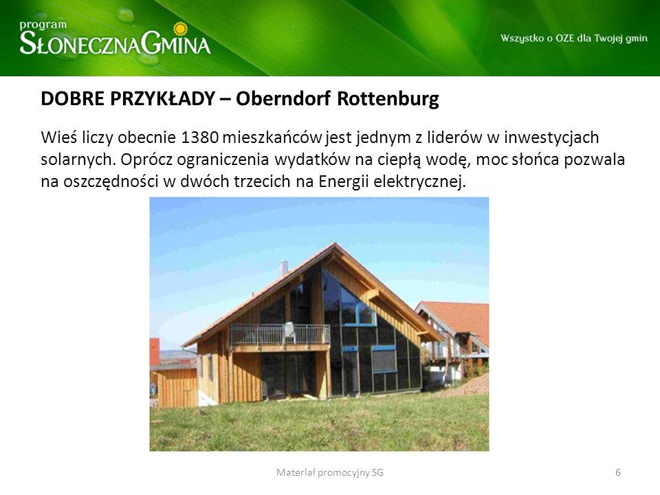 DOBRE PRZYKŁADY – Oberndorf Rottenburg Wieś liczy obecnie 1380 mieszkańców jest jednym z liderów w inwestycjach solarnych. Oprócz ograniczenia wydatkó