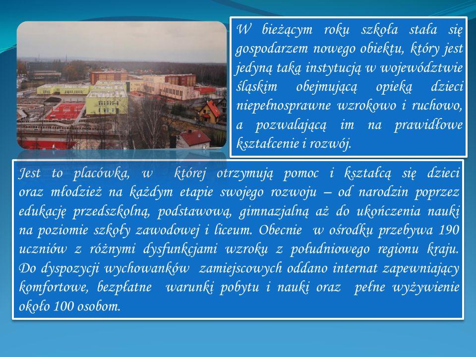 W bieżącym roku szkoła stała się gospodarzem nowego obiektu, który jest jedyną taką instytucją w województwie śląskim obejmującą opieką dzieci niepełn