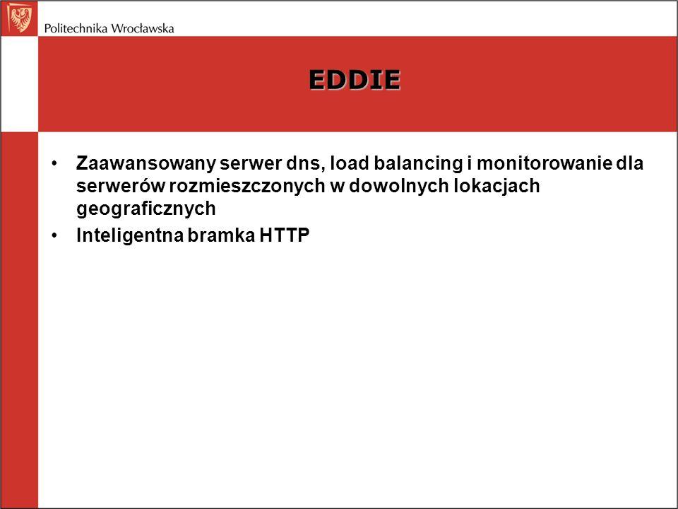 EDDIE Zaawansowany serwer dns, load balancing i monitorowanie dla serwerów rozmieszczonych w dowolnych lokacjach geograficznych Inteligentna bramka HT
