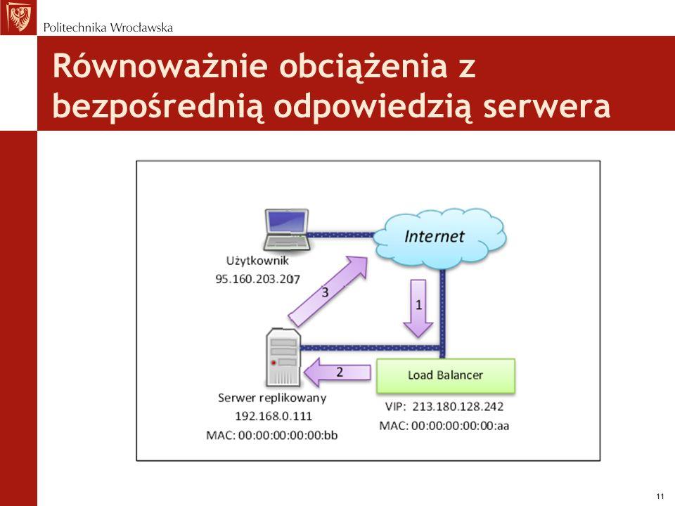 11 Równoważnie obciążenia z bezpośrednią odpowiedzią serwera