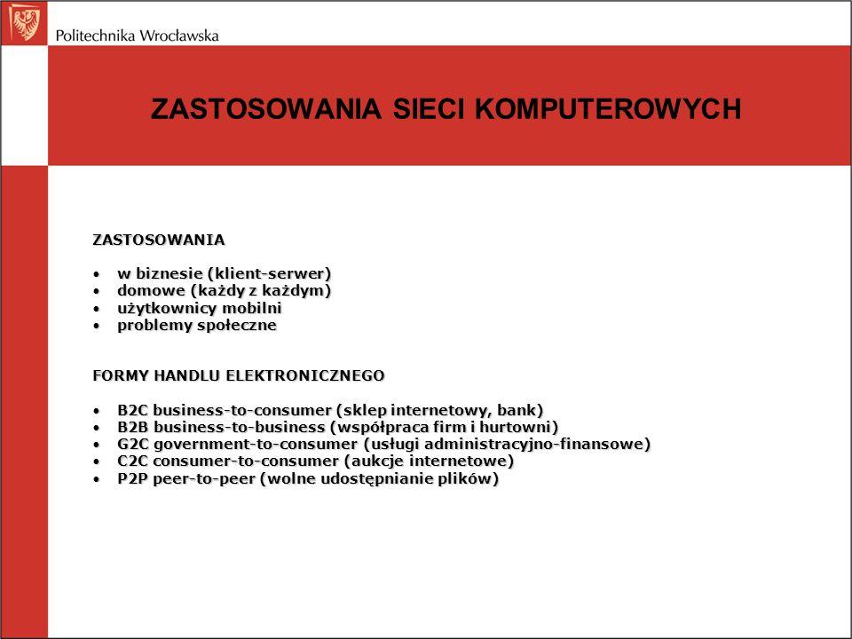 INFRASTRUKTURA INFORMATYCZNA: Wrocławska Akademicka Sieć Komputerowa Miejska sieć kręgosłupowa składająca się z 23 węzłów znajdujących się na terenie miasta W każdym węźle zainstalowane są przełącznice światłowodowe, urządzenia aktywne oraz systemy zasilania awaryjnego (UPS-y) Połączenia między węzłami zapewniają światłowody, których łączna długość przekracza 80 km Wewnątrz sieci można wyróżnić pętlę główną i 5 pętli bocznych o przepustowości 1 Gb/s oraz pętlę ATM o przepustowości 155/622 Mb/s Sieć WASK jest włączona do sieci PIONIER, której łącza mają przepustowość 10 Gb/s Szacuje się, że do sieci WASK włączonych jest około 30 000 komputerów, głównie osobistych