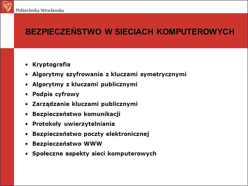 KRYPTOGRAFIA Wprowadzenie: szyfrowanie =transformacja (bit-po-bicie, znak-po-znaku), kodowanie=zastępowanie, tekst otwarty, algorytm, klucz, szyfrogram, intruz, kryptoanaliza, kryptologiaWprowadzenie: szyfrowanie =transformacja (bit-po-bicie, znak-po-znaku), kodowanie=zastępowanie, tekst otwarty, algorytm, klucz, szyfrogram, intruz, kryptoanaliza, kryptologia Szyfry podstawienioweSzyfry podstawieniowe Szyfry przestawienioweSzyfry przestawieniowe System kluczy jednokrotnych (XOR klucza i komunikatu)System kluczy jednokrotnych (XOR klucza i komunikatu) Kryptografia kwantowa: fotony, polaryzacja, baza prostolinijna, baza diagonalna, kubit, klucz jednokrotnyKryptografia kwantowa: fotony, polaryzacja, baza prostolinijna, baza diagonalna, kubit, klucz jednokrotny Fundamentalne zasady kryptografii: redundancja, aktualnośćFundamentalne zasady kryptografii: redundancja, aktualność