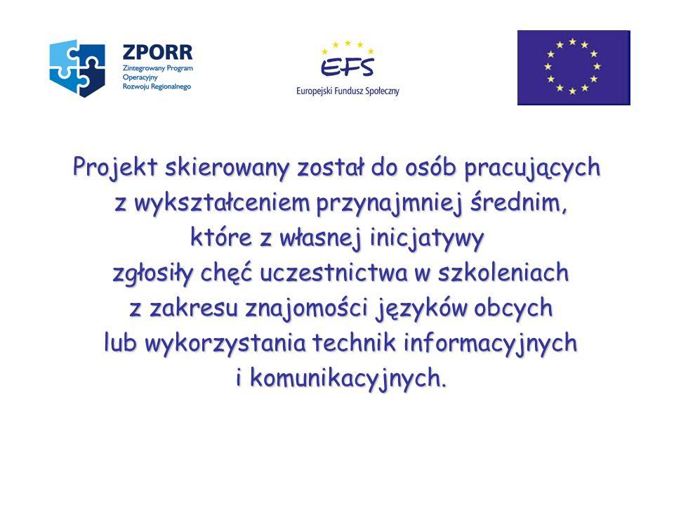 Zintegrowany Program Operacyjny Rozwoju Regionalnego Sektorowy Program Operacyjny Rozwój Zasobów Ludzkich Europejski Fundusz Społeczny Priorytet 2 Wzmocnienie rozwoju zasobów ludzkich w regionach - Działanie 2.1 Rozwój umiejętności powiązany z potrzebami regionalnego rynku pracy…