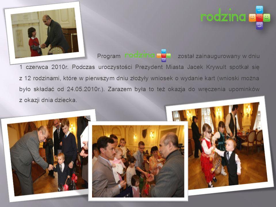 Program został zainaugurowany w dniu 1 czerwca 2010r.