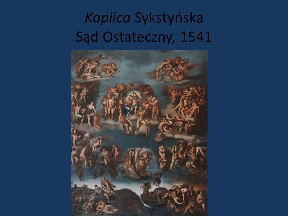 Michał Anioł Kaplica Sykstyńska, 1481