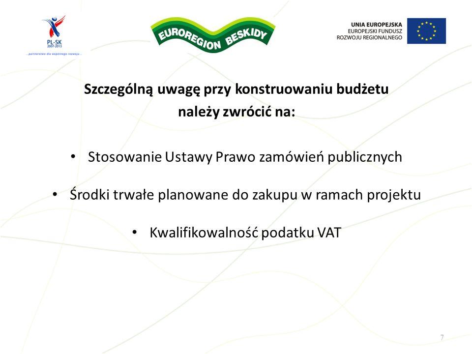 Budżet projektu sporządza się w walucie EUR według przyjętego przez wnioskodawcę kursu.