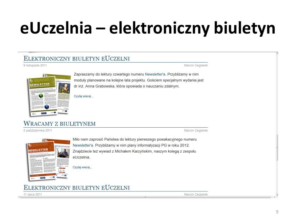 eUczelnia – elektroniczny biuletyn 9