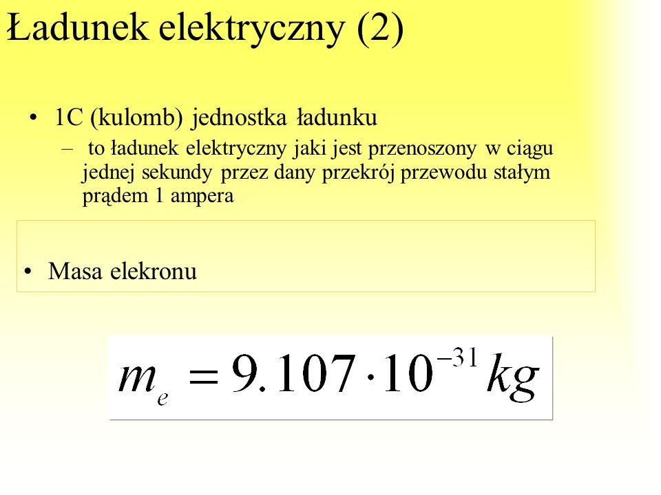 Ładunek elektryczny(1) WŁAŚCIWOŚCI: Ładunki cząstek i ich układów stanowią krotność ładunku elementarnego: To cecha cząstek elementarnych powodująca,