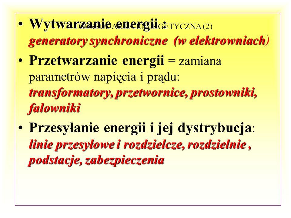 GOSPODARKA ENERGETYCZNA ZESPÓŁ URZĄDZEŃ SŁUŻĄCYCH DO WYTWARZANIA, PRZESYŁANIA, PRZETWARZANIA, ROZDZIAŁU I UŻYTKOWANIA ENERGII ELEKTRYCZNEJ NAZYWAMY UK