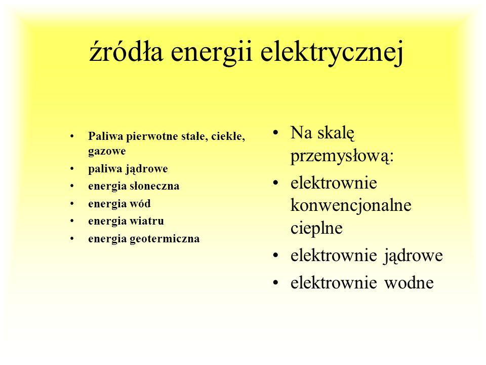 GOSPODARKA ENERGETYCZNA (2) Wytwarzanie energii : generatory synchroniczne (w elektrowniachWytwarzanie energii : generatory synchroniczne (w elektrown