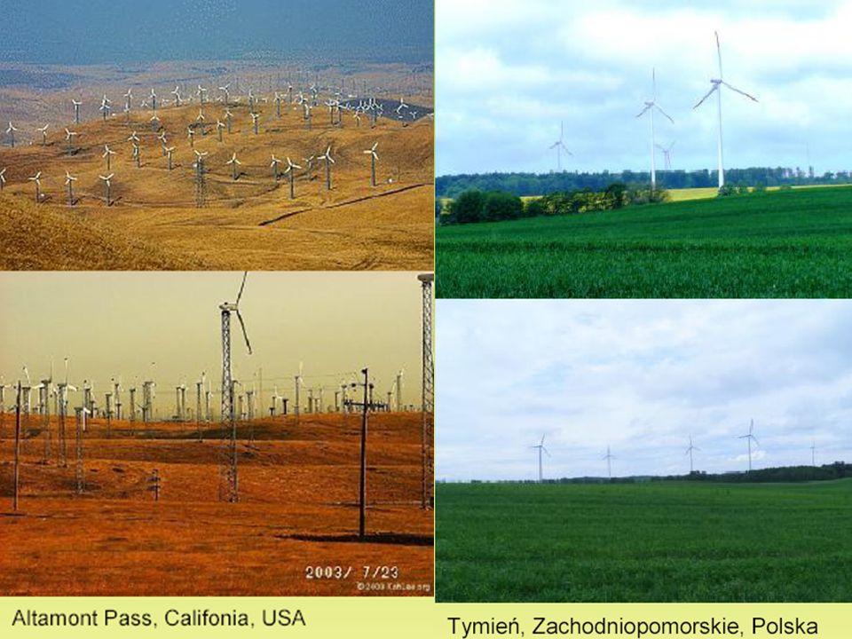 Elektrownia wiatrowa Światowy potentat w produkcji energii wiatrowej Niemcy (ok. 40% produkcji w skali całego globu). Aby uzyskać 1 MW (megawat) mocy,