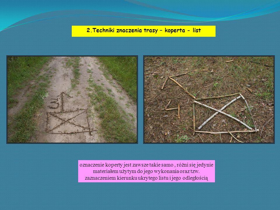 2.Techniki znaczenia trasy – koperta - list oznaczenie koperty jest zawsze takie samo, różni się jedynie materiałem użytym do jego wykonania oraz tzw.