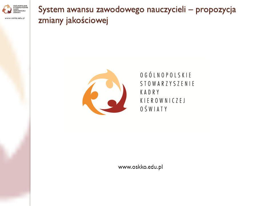 www.oskko.edu.pl System awansu zawodowego nauczycieli – propozycja zmiany jakościowej www.oskko.edu.pl