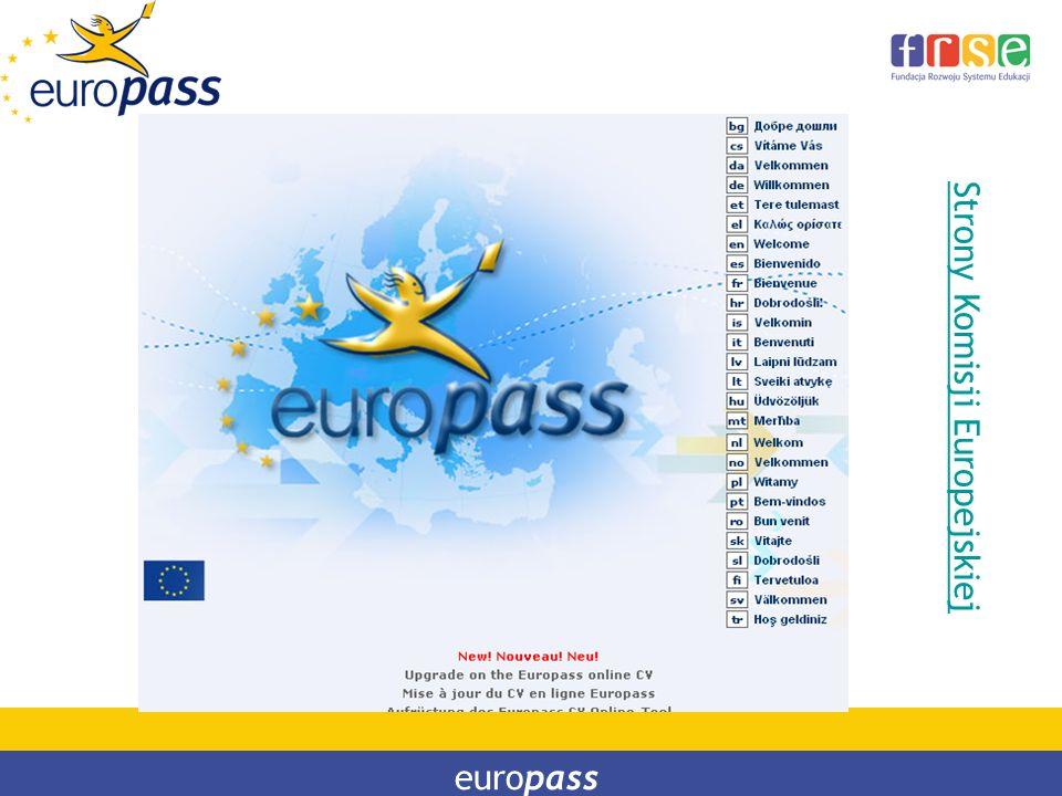Strony Komisji Europejskiej europass