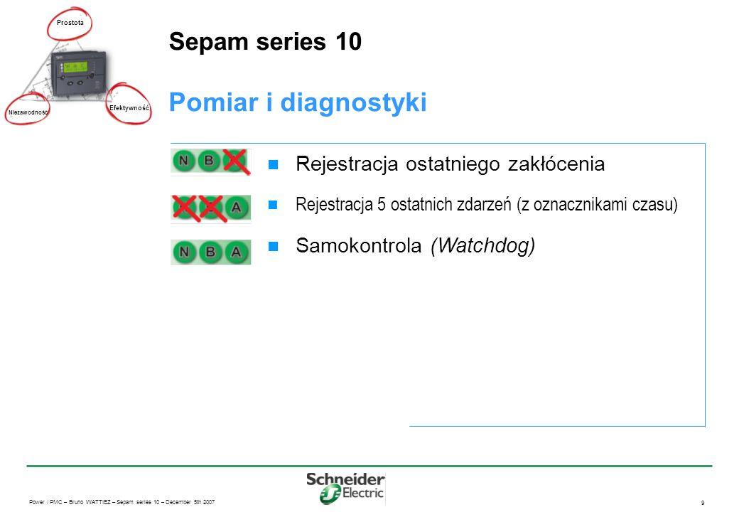 Power / PMC – Bruno WATTIEZ – Sepam series 10 – December 5th 2007 20 Sepam serii 10 Rozwiązania komunikacyjne: Sepam serii 10 i system SCADA Prostota Niezawodność Efektywność