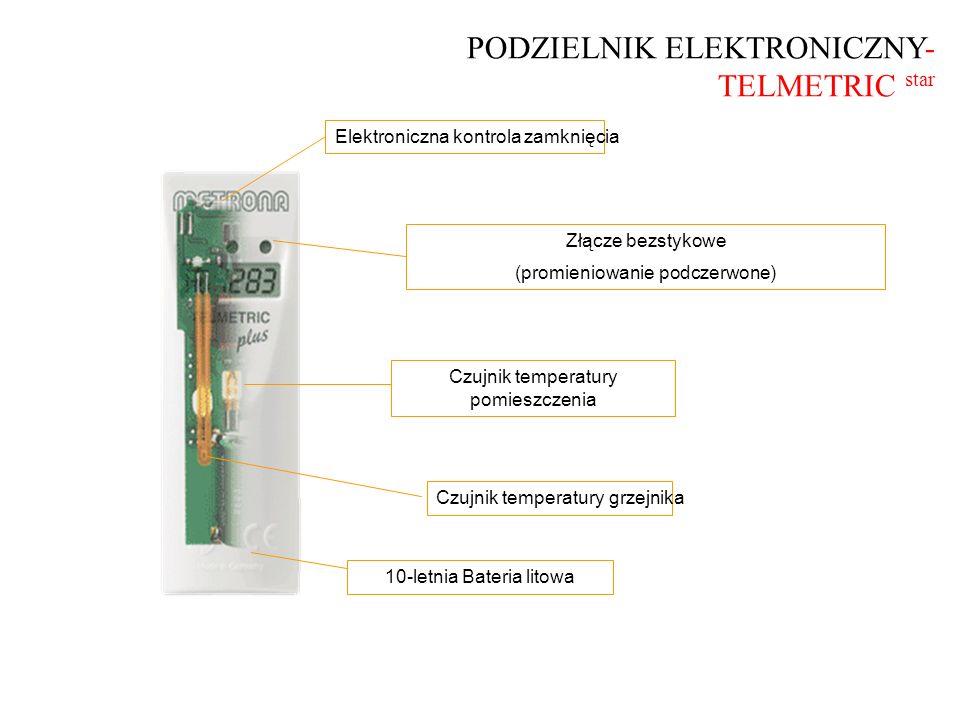 Podzielnik z modułem radiowym TELMETRIC star Odczyt podzielnika bez konieczności wchodzenia do mieszkania