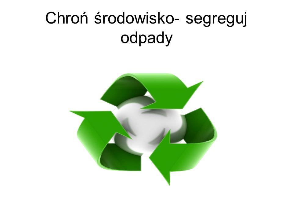 Schemat segregacji odpadów