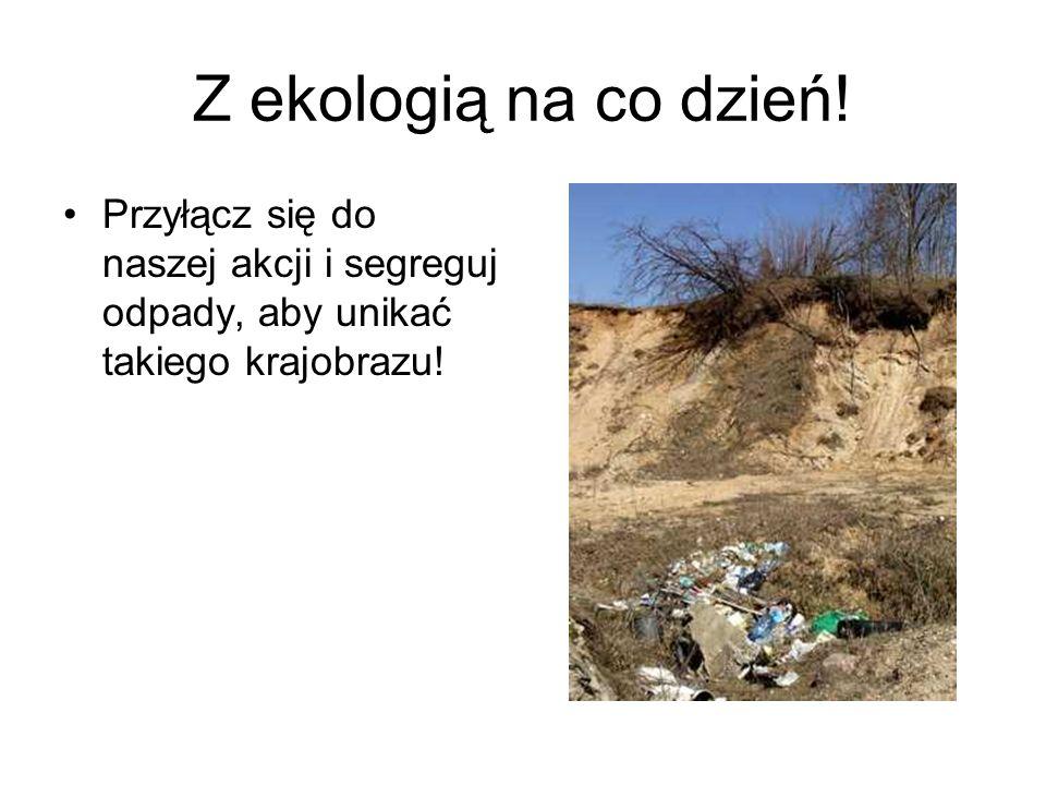 Rozpoczęliśmy akcje –z ekologią na co dzień w szkole