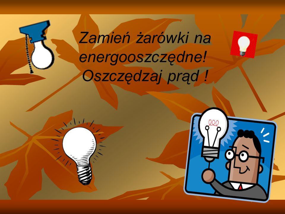 Zamień żarówki na energooszczędne! Oszczędzaj prąd !