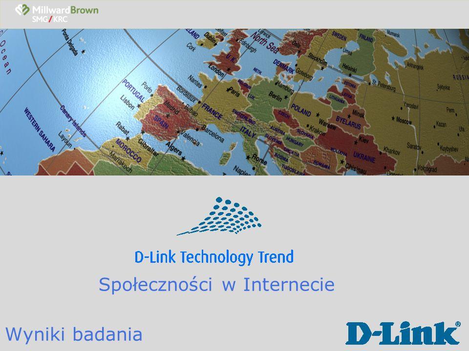 D-Link Technology Trend Cel i metodologia badawcza Cele badania: Zbadanie zjawiska Internetu 2.0, a w szeczgólności popularności serwisów społecznościowych i motywów korzystania z tego typu portali.