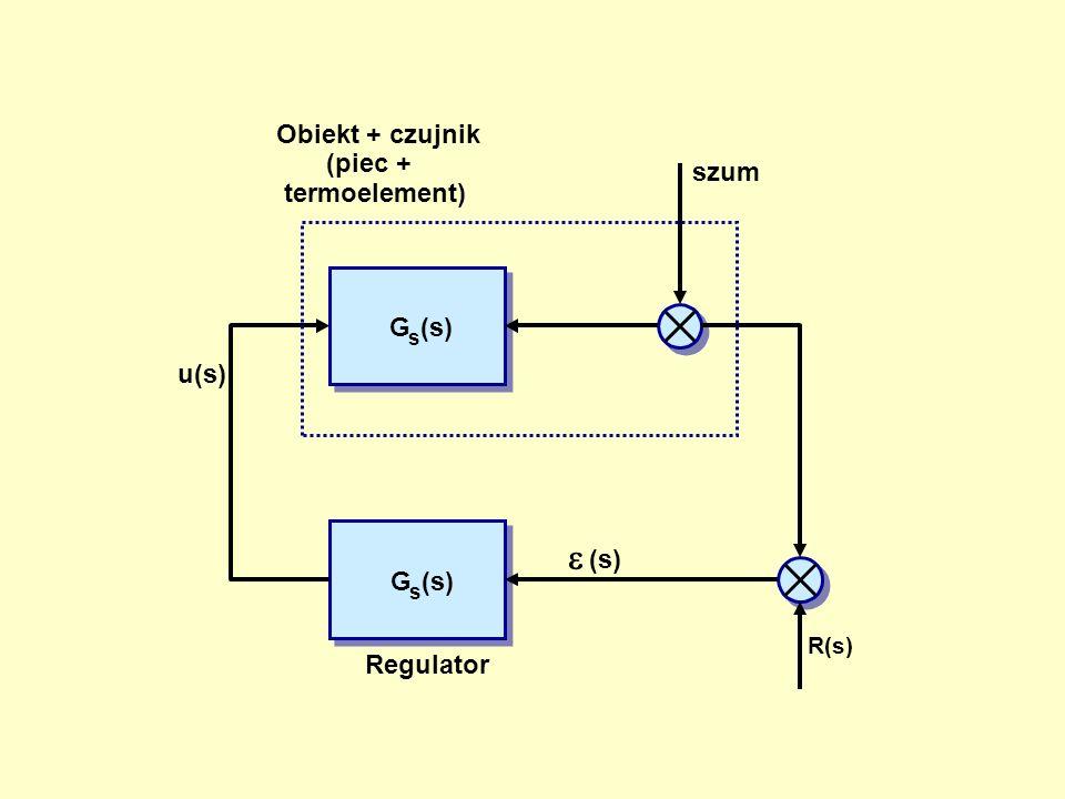 G s (s) szum R(s) (s) u(s) Obiekt + czujnik (piec + termoelement) Regulator G s (s)