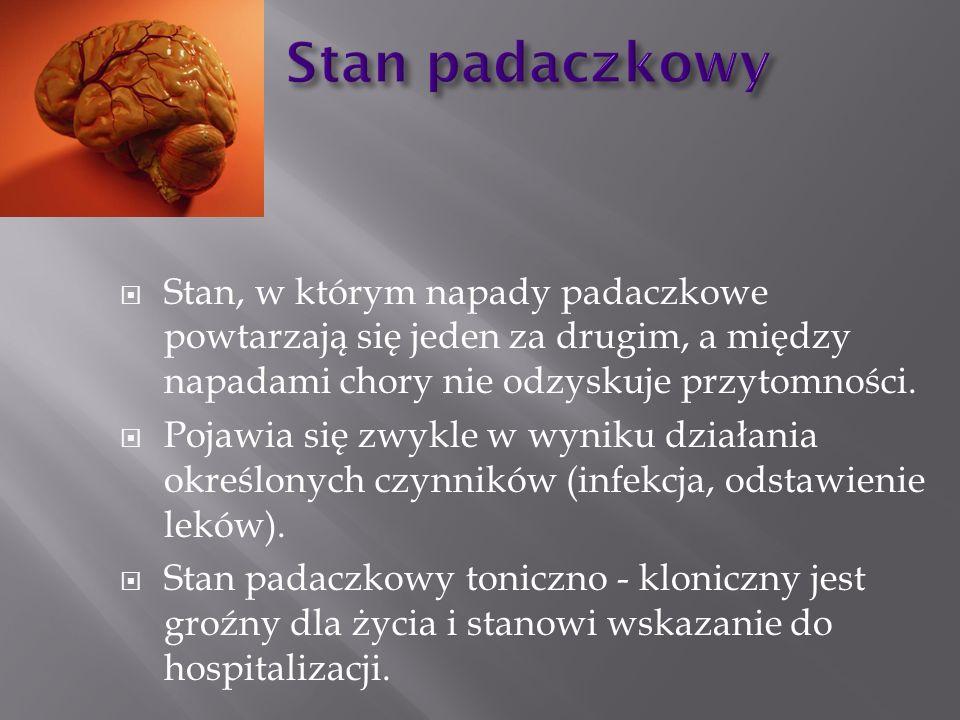 Leczenie napadu padaczkowego: 10 mg diazepamu powoli i.v.