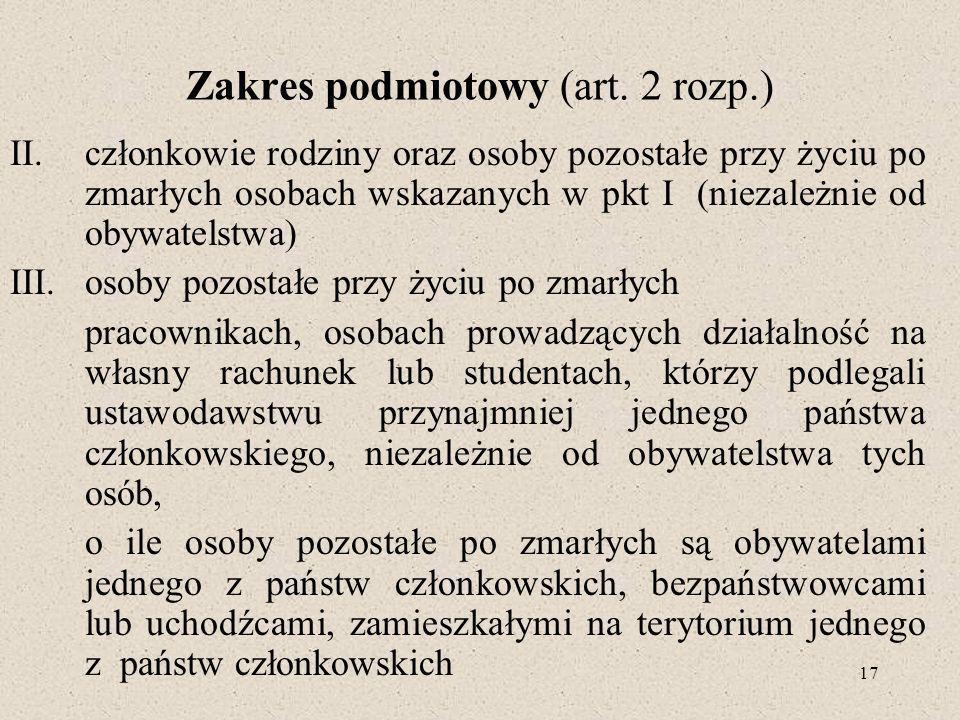 17 Zakres podmiotowy (art.