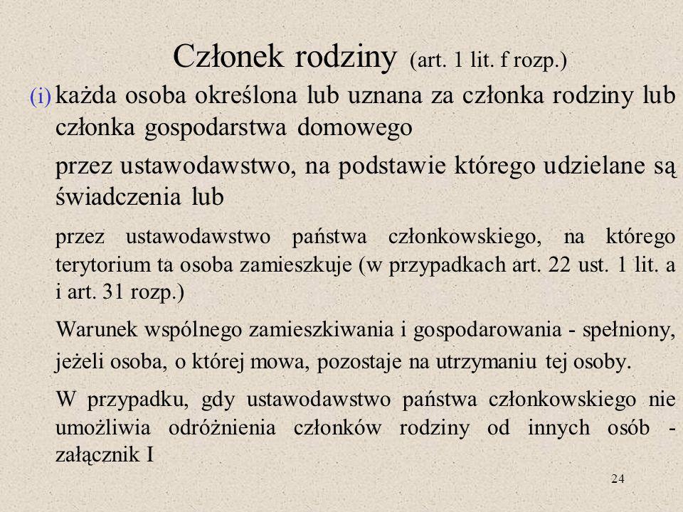 24 Członek rodziny (art.1 lit.