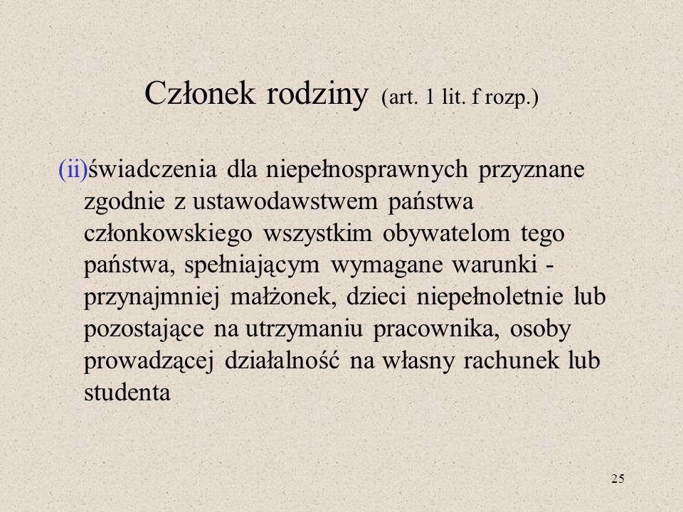 25 Członek rodziny (art.1 lit.