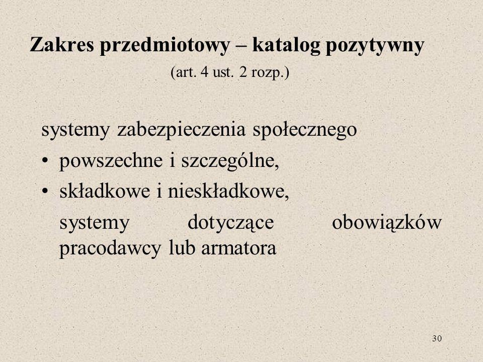 30 Zakres przedmiotowy – katalog pozytywny (art.4 ust.