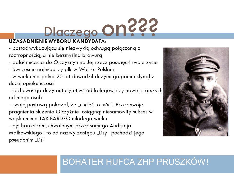 Dlaczego on??.BOHATER HUFCA ZHP PRUSZKÓW.