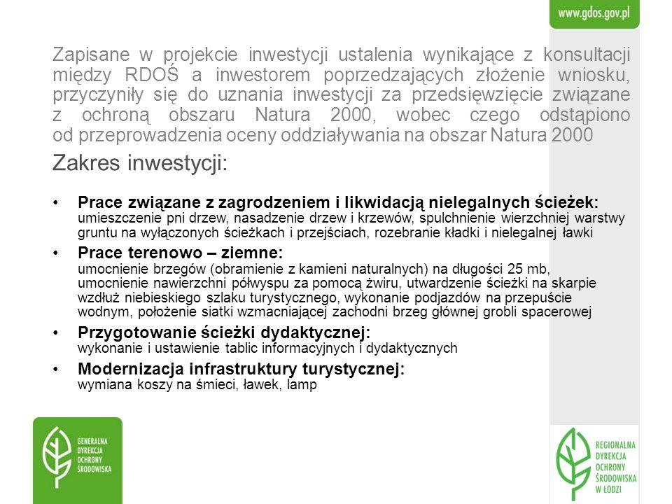 Prace związane z zagrodzeniem i likwidacją nielegalnych ścieżek: umieszczenie pni drzew, nasadzenie drzew i krzewów, spulchnienie wierzchniej warstwy