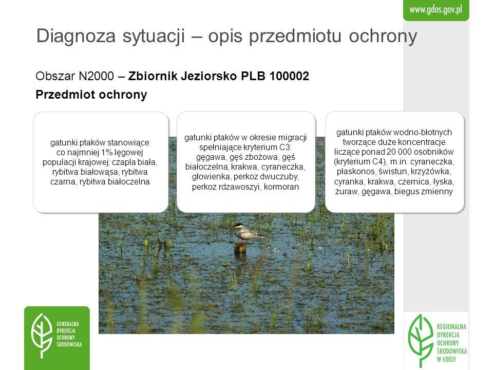 Obszar N2000 – Zbiornik Jeziorsko PLB 100002 Przedmiot ochrony Diagnoza sytuacji – opis przedmiotu ochrony gatunki ptaków stanowiące co najmniej 1% lę