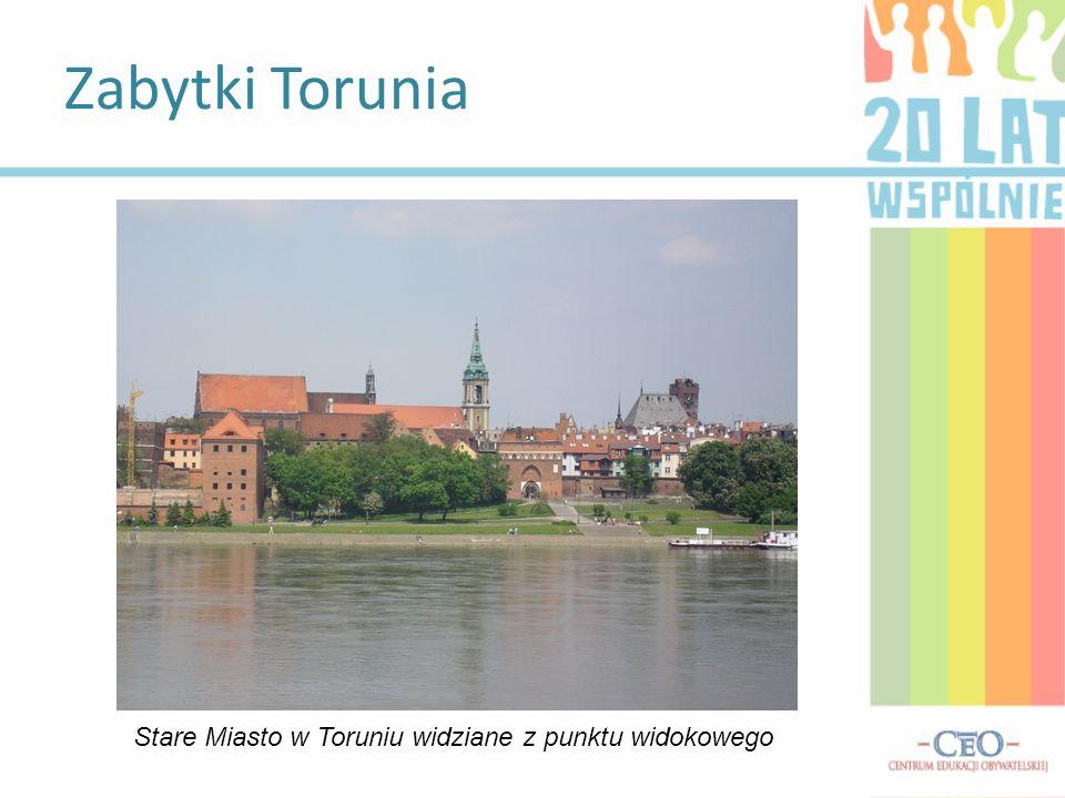 Zabytki Torunia Stare Miasto w Toruniu widziane z punktu widokowego