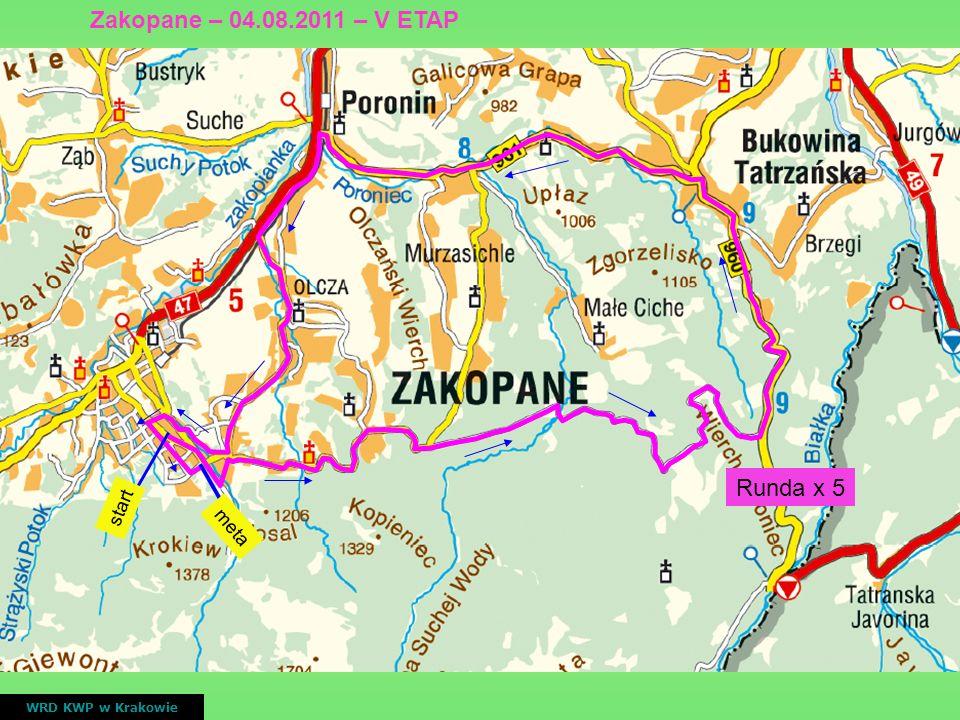 start meta Runda x 5 WRD KWP w Krakowie Zakopane – 04.08.2011 – V ETAP
