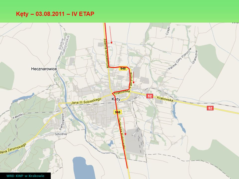V ETAP Zakopane - Zakopane ( 5 rund po trasie ) WRD KWP w Krakowie nr drogiprzebiegczas przejazdu wyścigu DW 961 Bukowina Tatrzańska ( rondo Kliny), Stasikówka, Poronin ul.