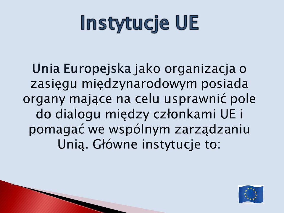 Unia Europejska jako organizacja o zasięgu międzynarodowym posiada organy mające na celu usprawnić pole do dialogu między członkami UE i pomagać we ws
