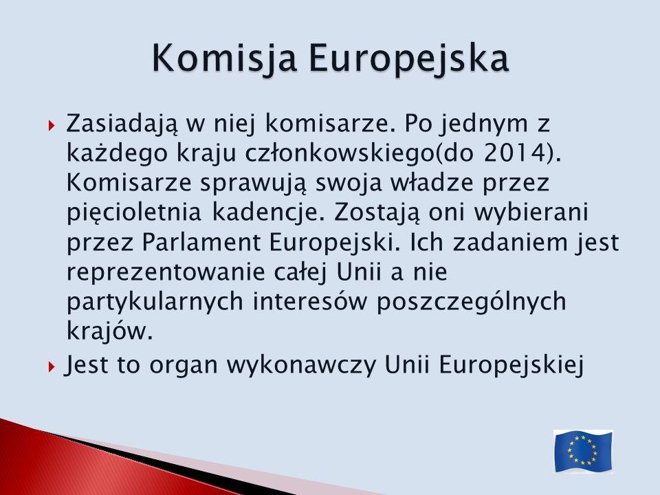 Zasiadają w niej komisarze. Po jednym z każdego kraju członkowskiego(do 2014). Komisarze sprawują swoja władze przez pięcioletnia kadencje. Zostają on