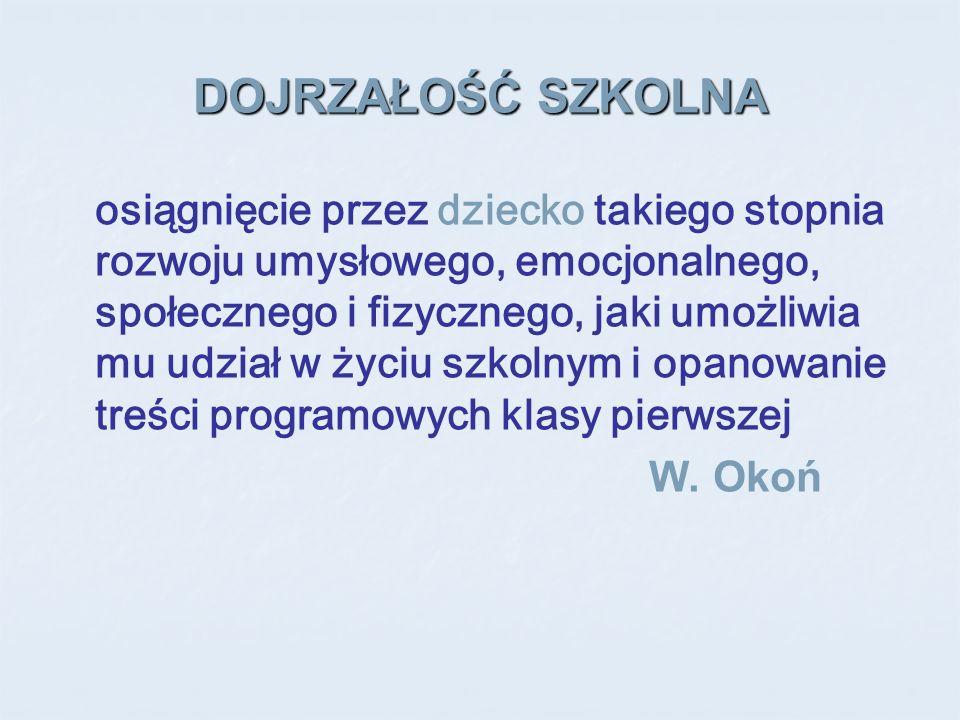 Literatura Wilgocka – Okoń B., 2002, Gotowość szkolna w perspektywie historycznej [w] W.