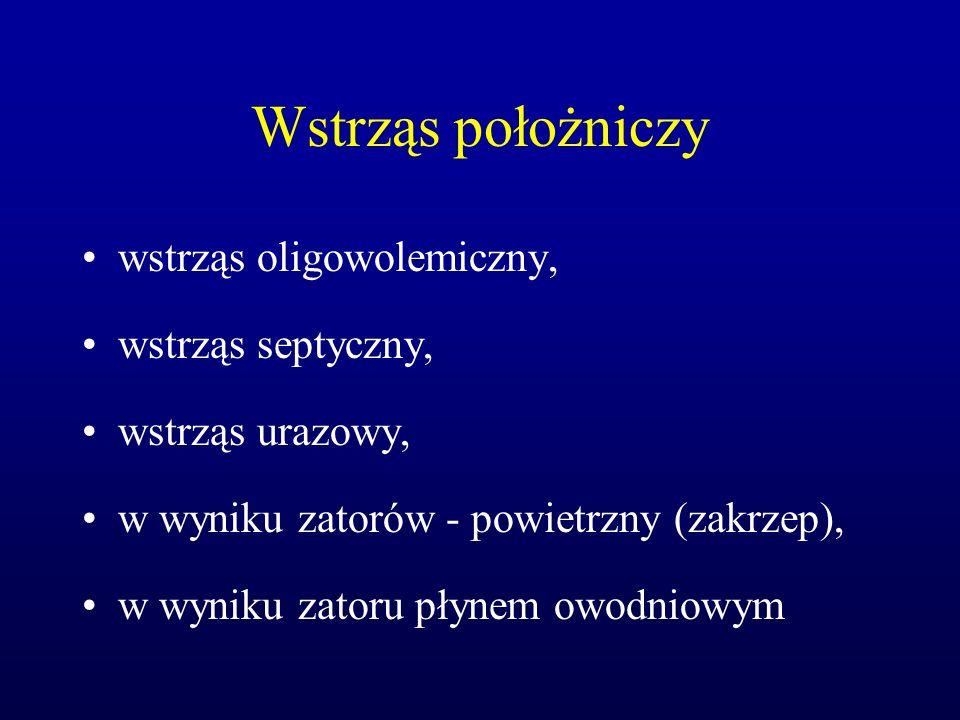 Patofizjologia wstrząsu występują 4 fazy wstrząsu: 1.
