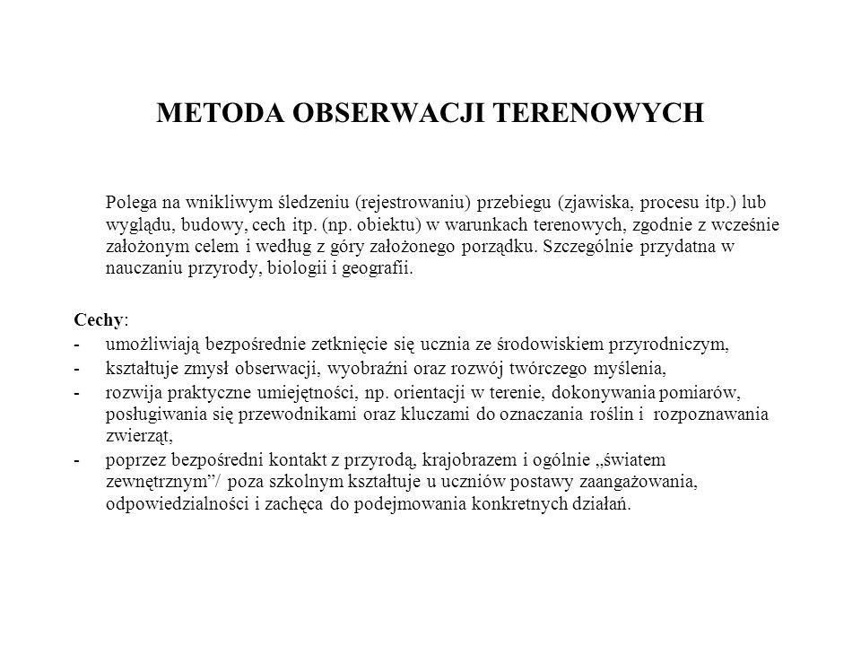 METODA OBSERWACJI TERENOWYCH Krok po kroku 1.